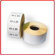 43*25(1000 шт) Термоэтикетка