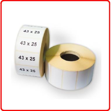 Термолента для этикеток 43*25(1000 шт)