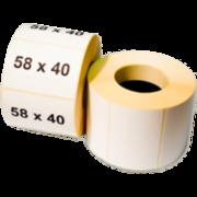 58*40(580 шт) Термоэтикетка
