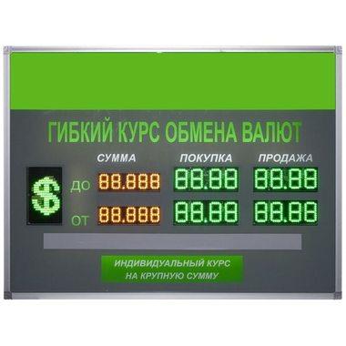 TEN6-60x2(двухстороннее) Уличное табло валют